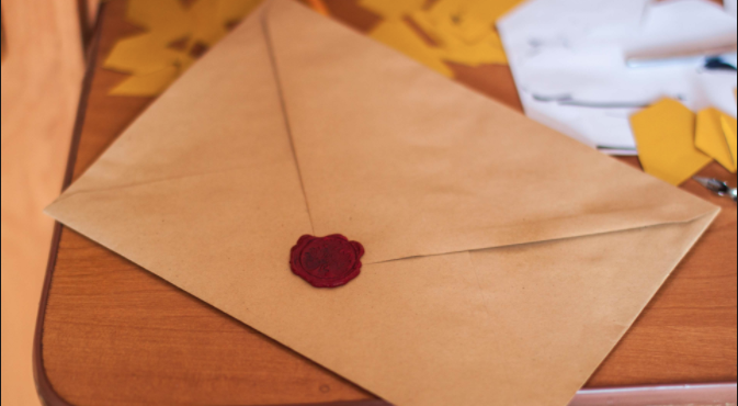 Old Letter with wax seal