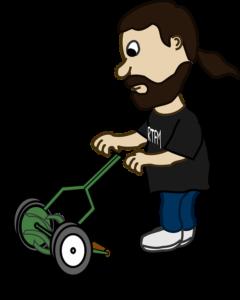 The lawn mower man