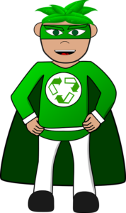 superhero RECYCLE MAN